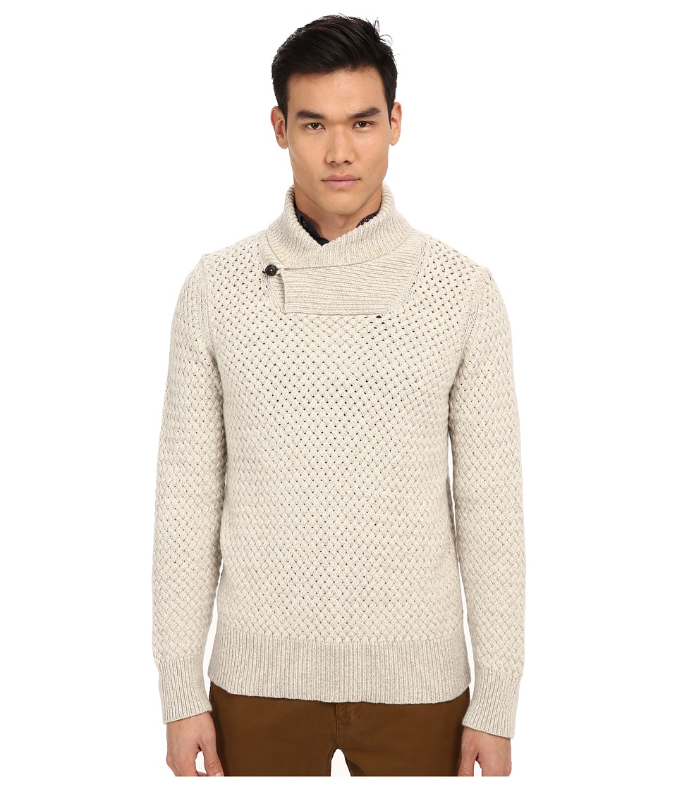 Billy Reid - Basketweave Pullover (Natural) Men's Sweater