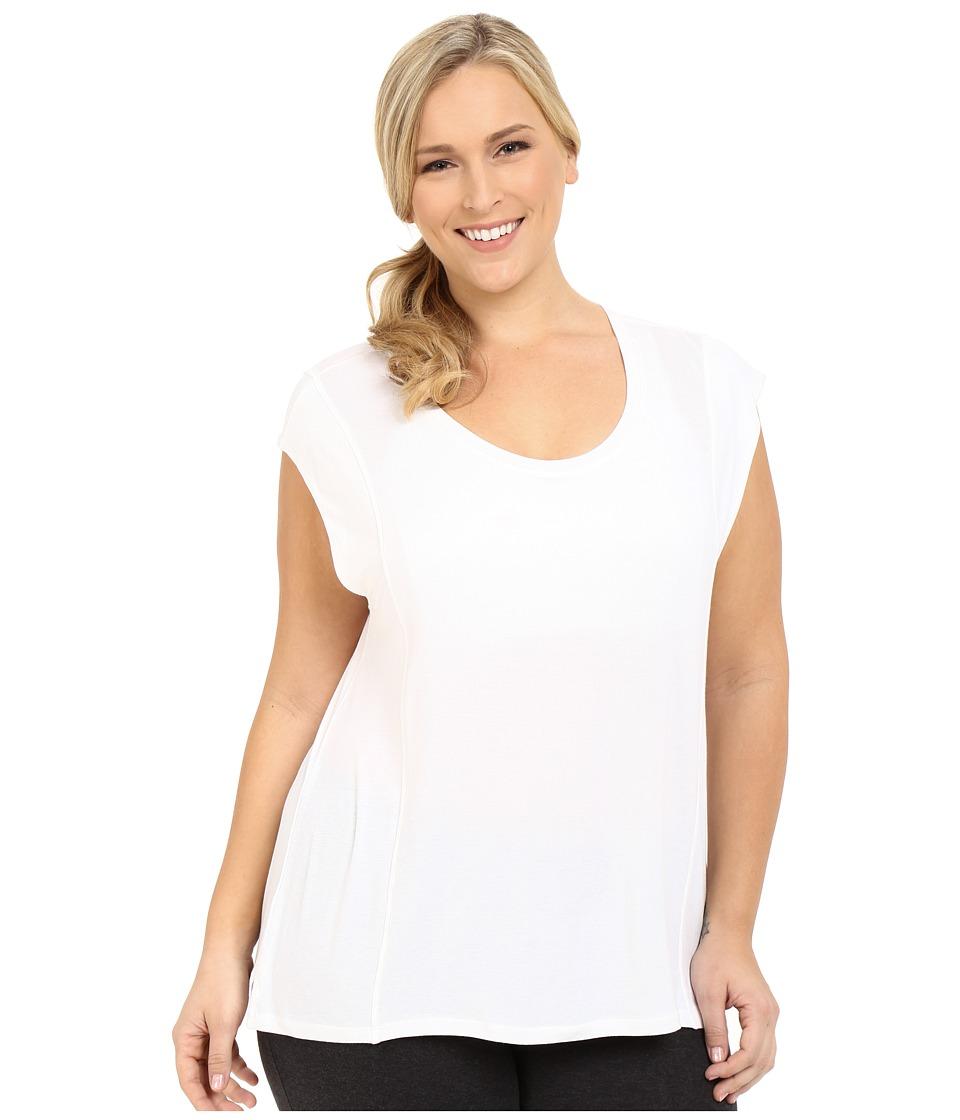 Marika Curves Plus Size Caitlyn Tee (White/Limelight) Women