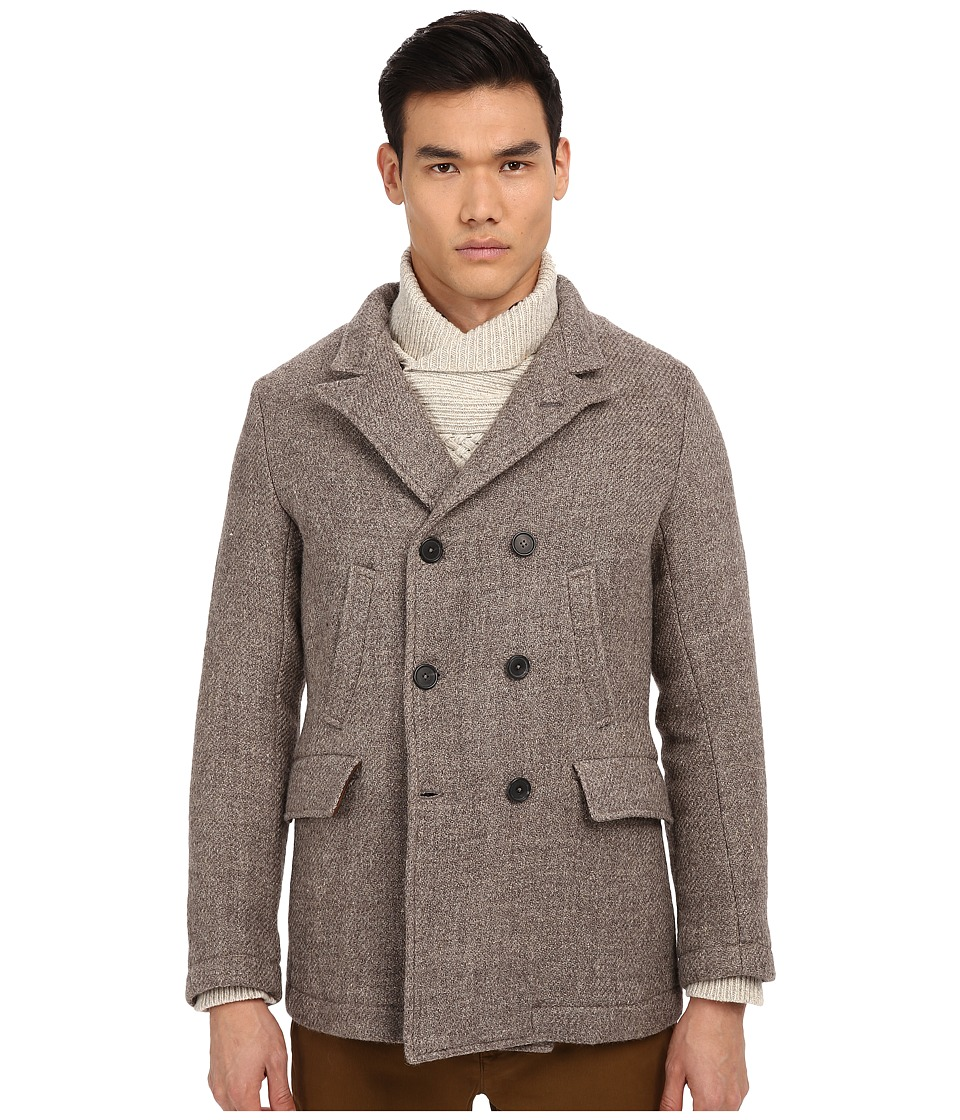 Billy Reid - Bond Blended Peacoat (Grey) Men's Coat