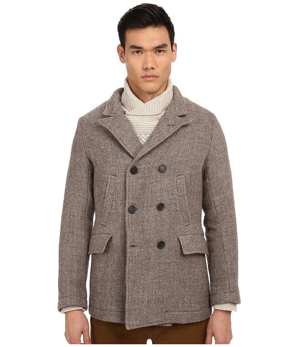 Billy Reid - Bond Blended Peacoat (Grey) Men's Coat
