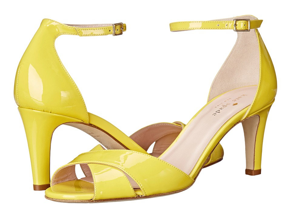 Kate Spade New York - Eleanora (Lemon Yellow Patent) Women's Shoes