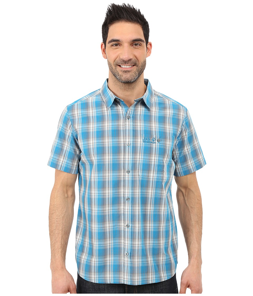 Jack Wolfskin - Fairford Shirt (Dark Turquoise Checks) Men's Clothing