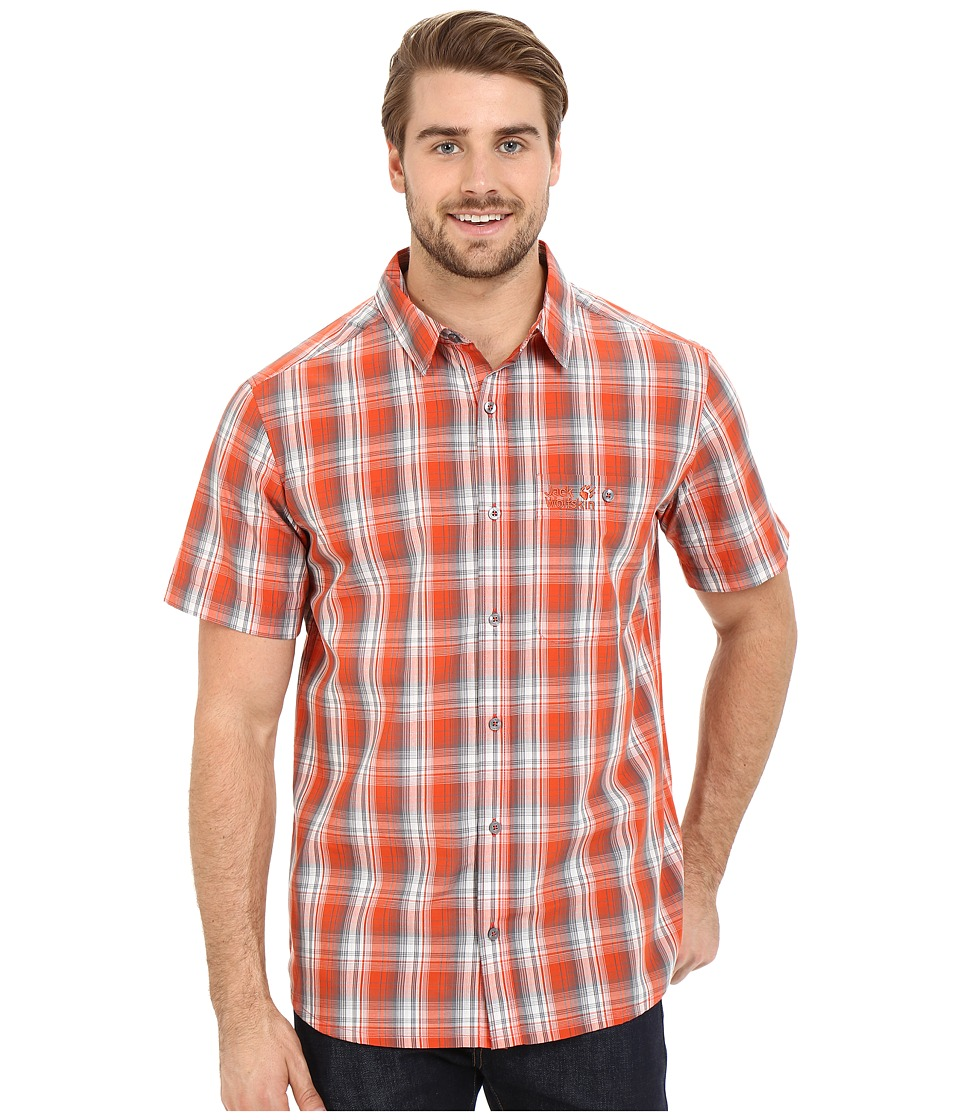 Jack Wolfskin - Fairford Shirt (Chili Checks) Men's Clothing