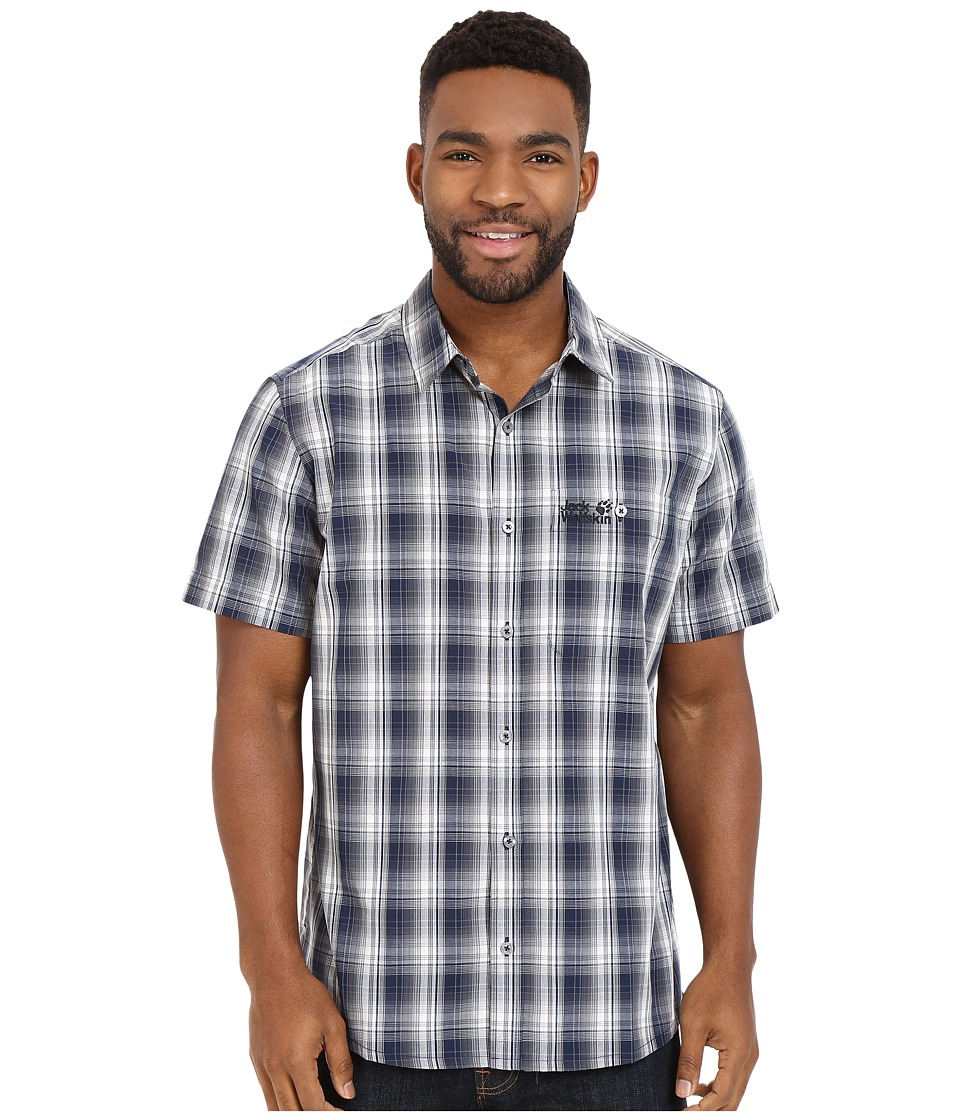 Jack Wolfskin - Fairford Shirt (Night Blue Checks) Men's Clothing