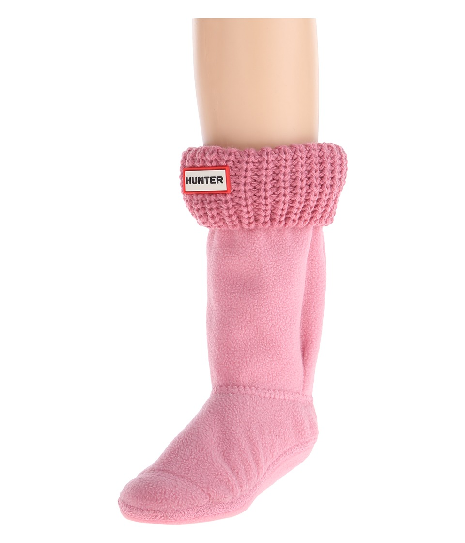 Hunter Kids - Half Cardigan Boot Sock (Toddler/Little Kid/Big Kid) (Fondant Pink) Kids Shoes