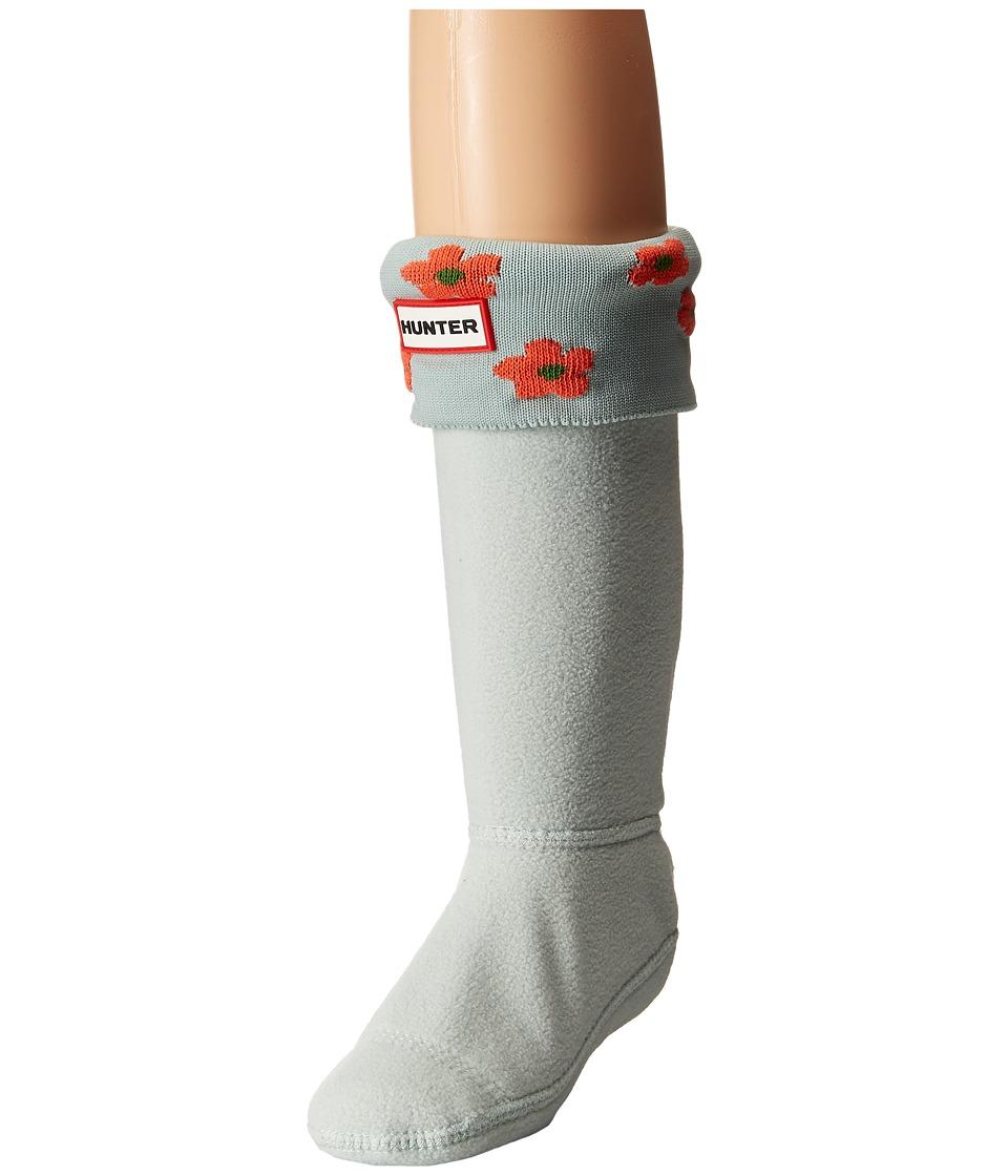 Hunter Kids - Original Floral Boot Cuff (Toddler/Little Kid/Big Kid) (Sunset/Grey Pistachio Floral) Girls Shoes