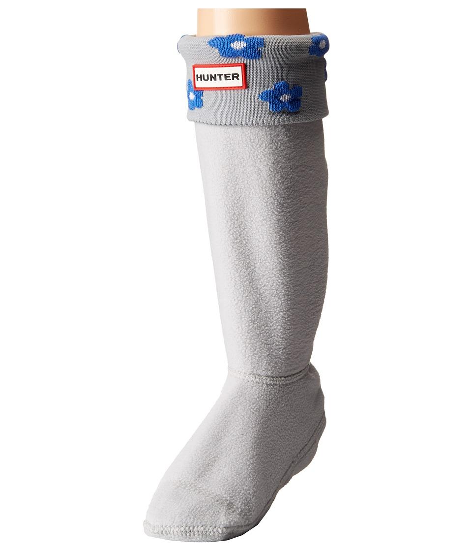 Hunter Kids - Original Floral Boot Cuff (Toddler/Little Kid/Big Kid) (Adventure Blue/Dove Grey Floral) Girls Shoes