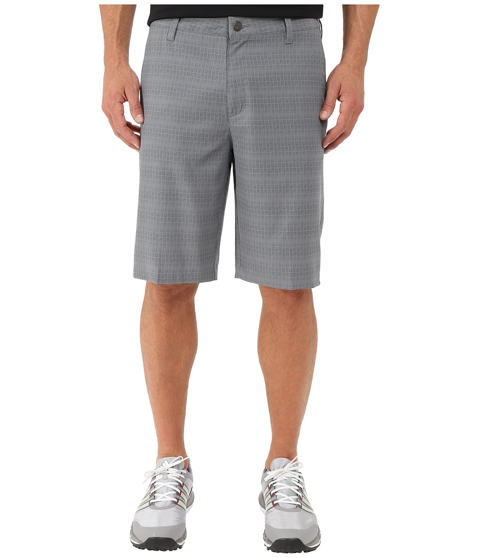 adidas Golf - Ultimate Dot Plaid Shorts (Vista Grey/Black) Men's Shorts