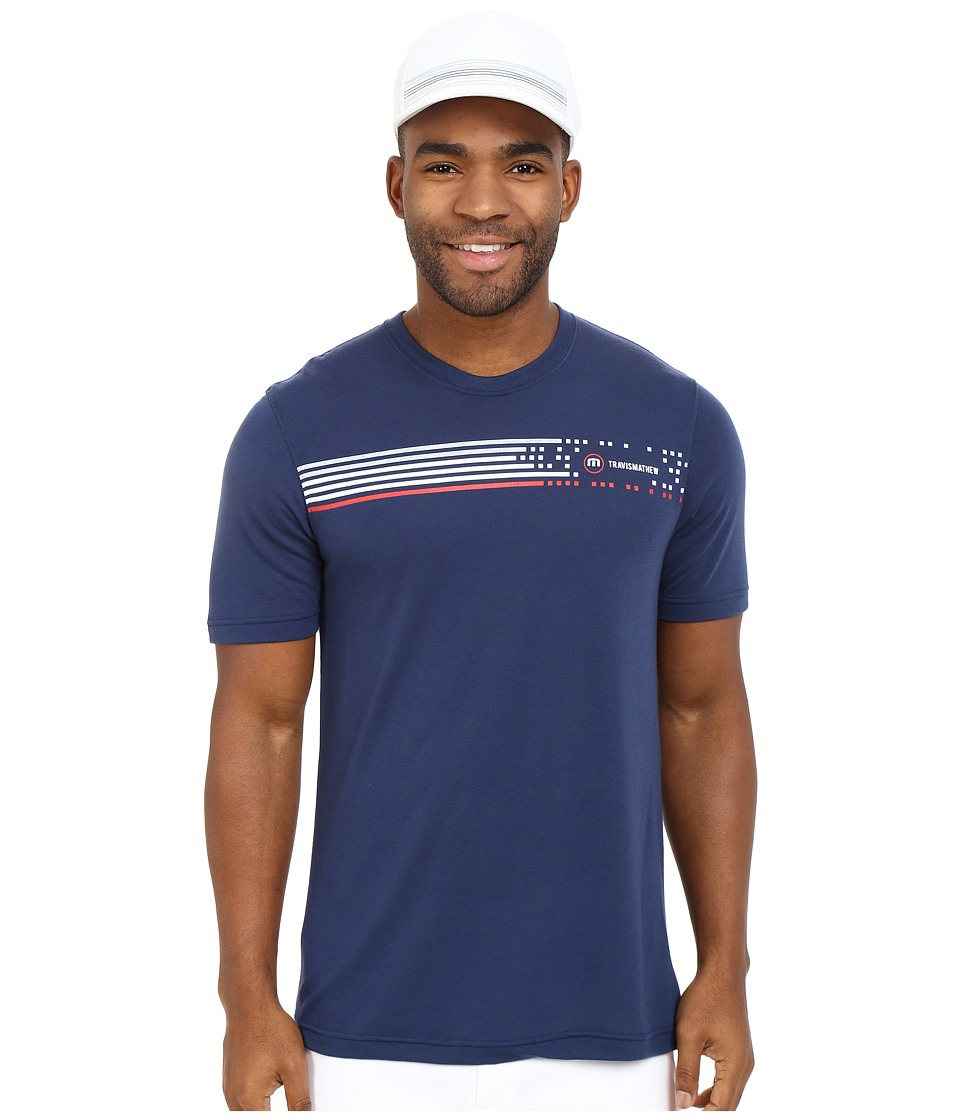 TravisMathew - RED Digital Shirt (Insignia Blue) Men's T Shirt