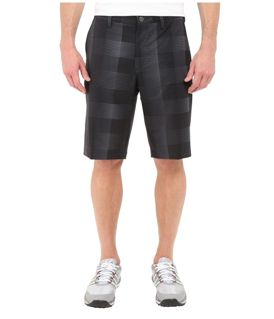 adidas Golf - Ultimate Competition Plaid Shorts (Black/DGH Solid Grey) Men's Shorts