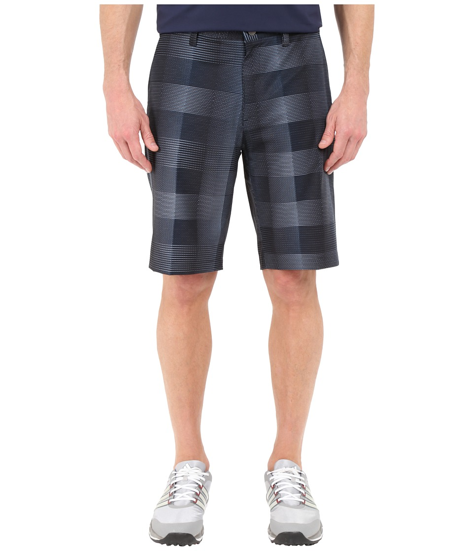 adidas Golf - Ultimate Competition Plaid Shorts (Mineral Blue/Mid Grey) Men's Shorts