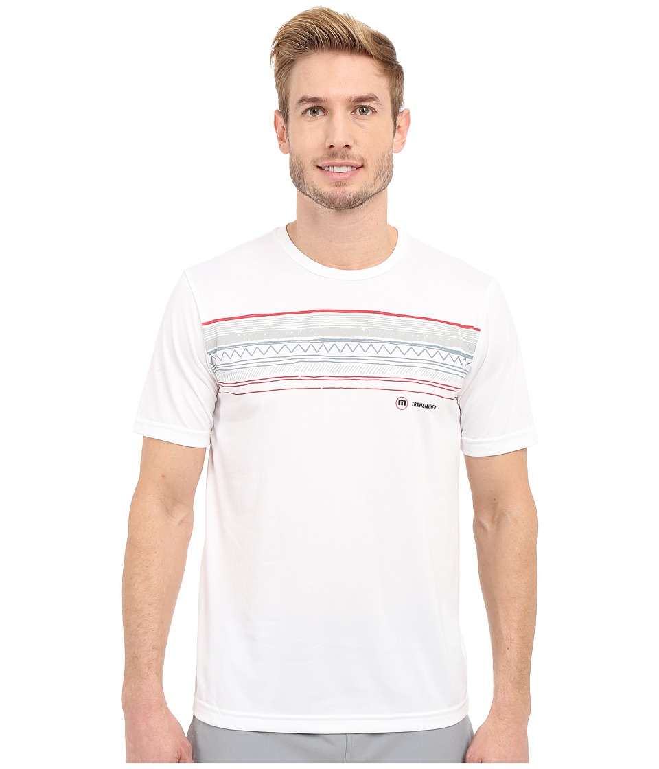 TravisMathew - RED Fischer Shirt (White) Men's Workout