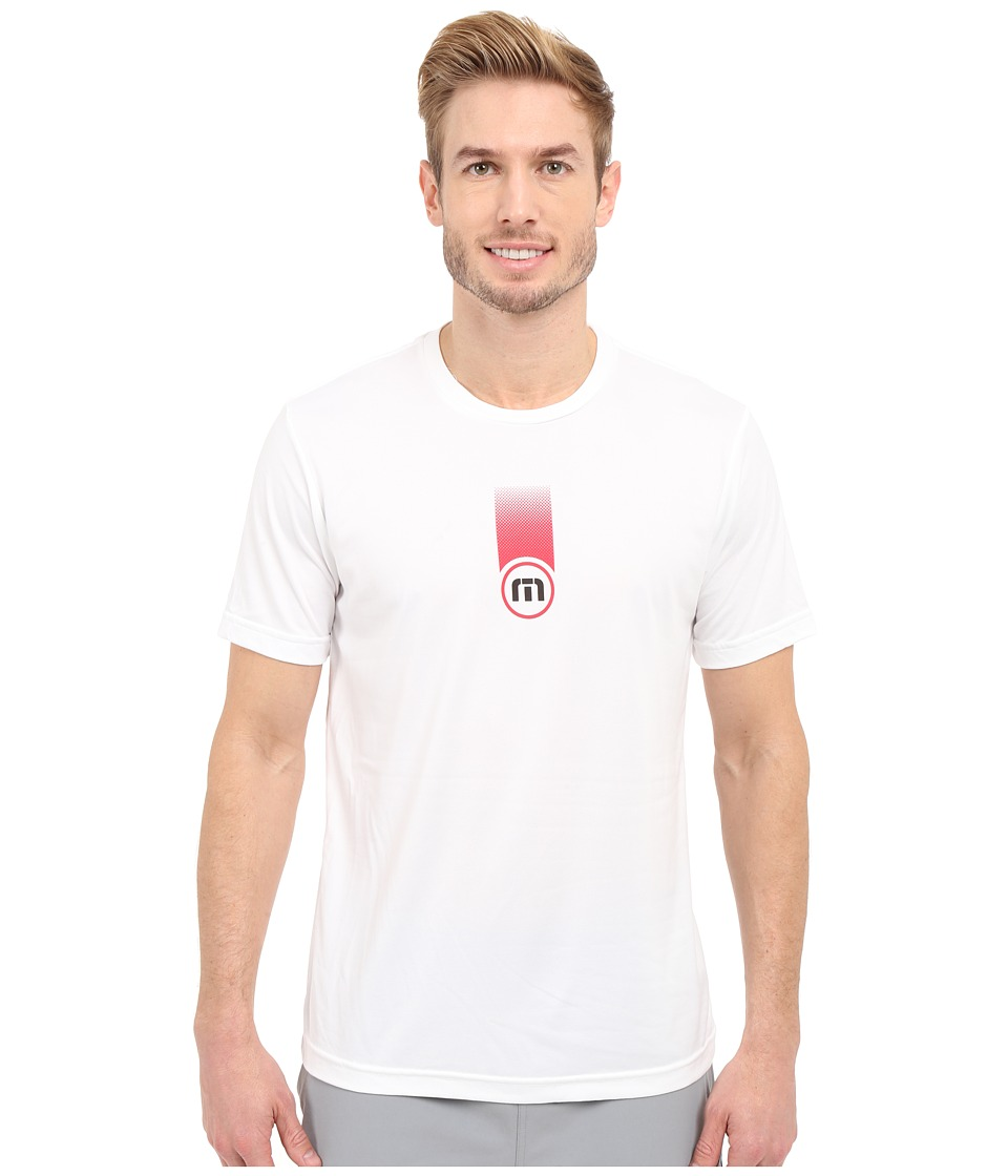 TravisMathew - RED Grouch Shirt (White) Men's Workout