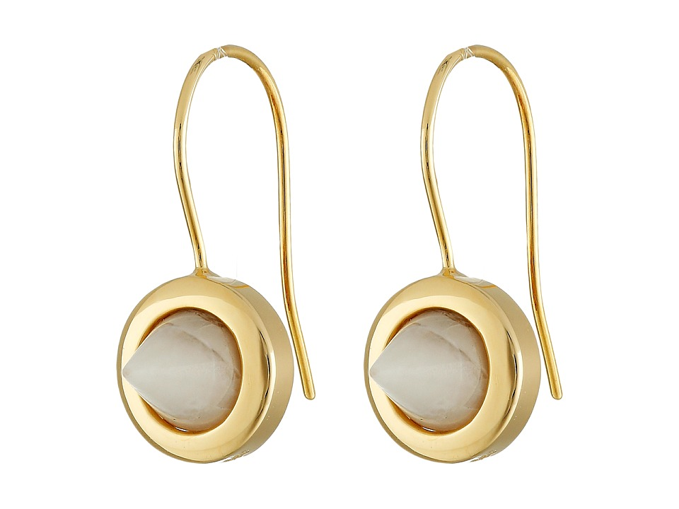 Eddie Borgo - Gemstone Cone Drop Earrings (Gold) Earring