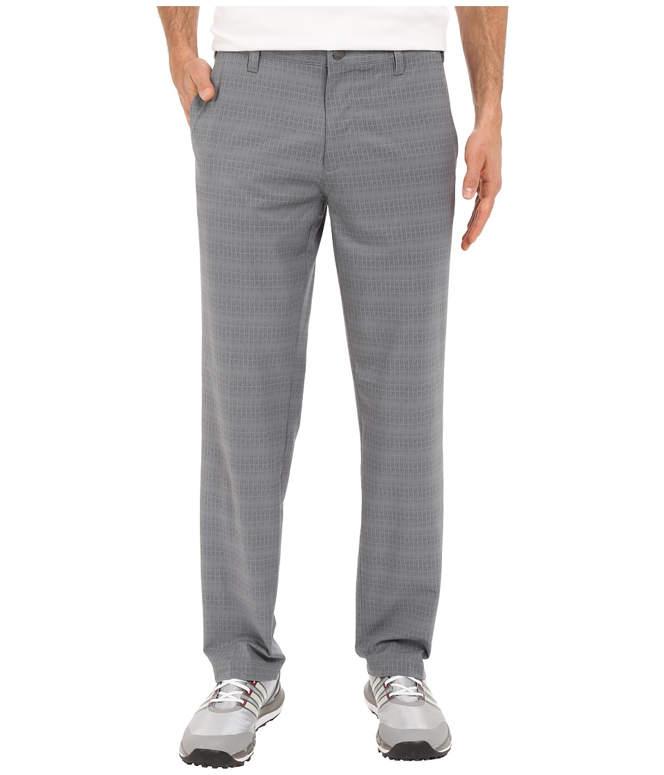 adidas Golf - Ultimate Dot Plaid Pants (Vista Grey/Black) Men's Casual Pants