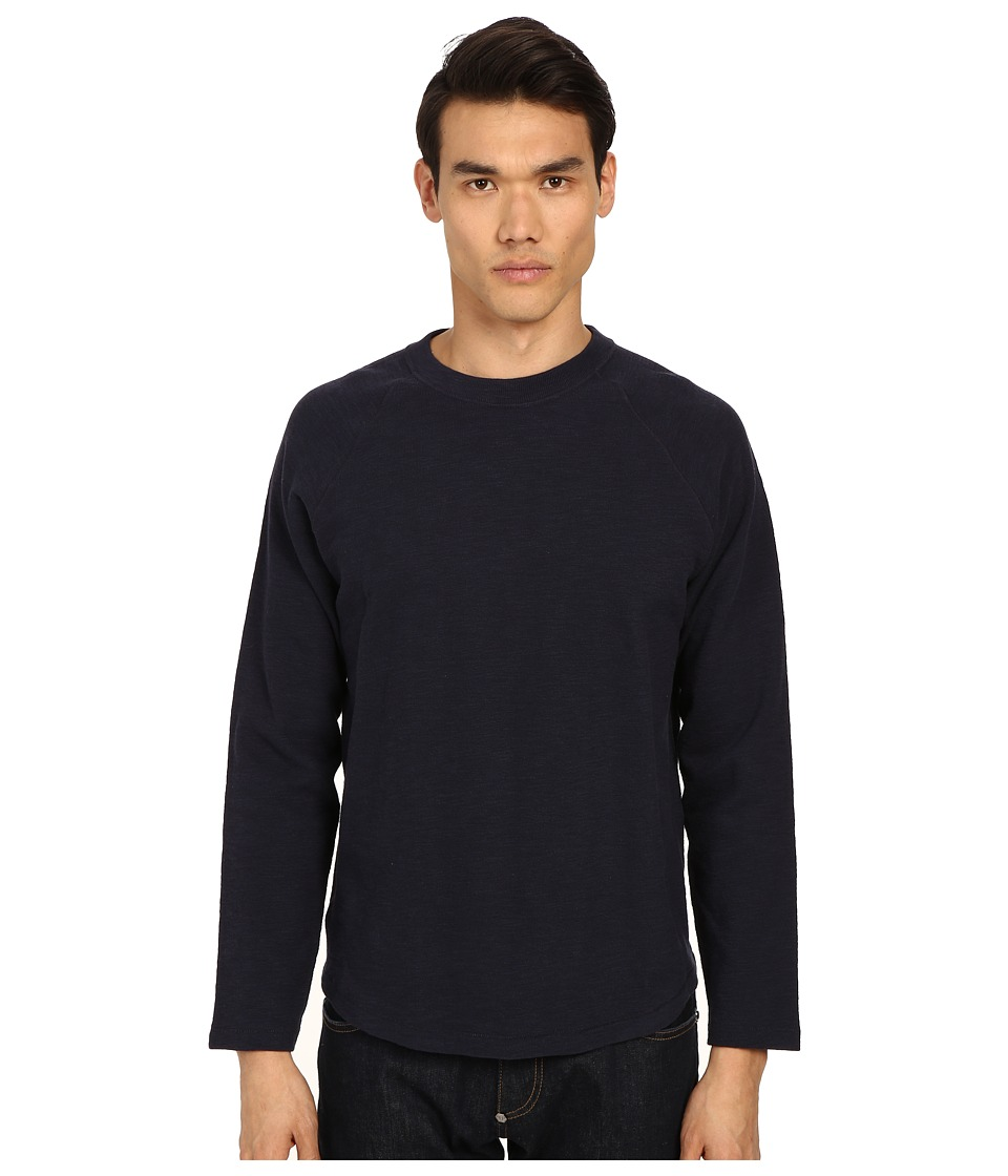 Billy Reid - Baseball Pullover (Navy) Men's Sweatshirt