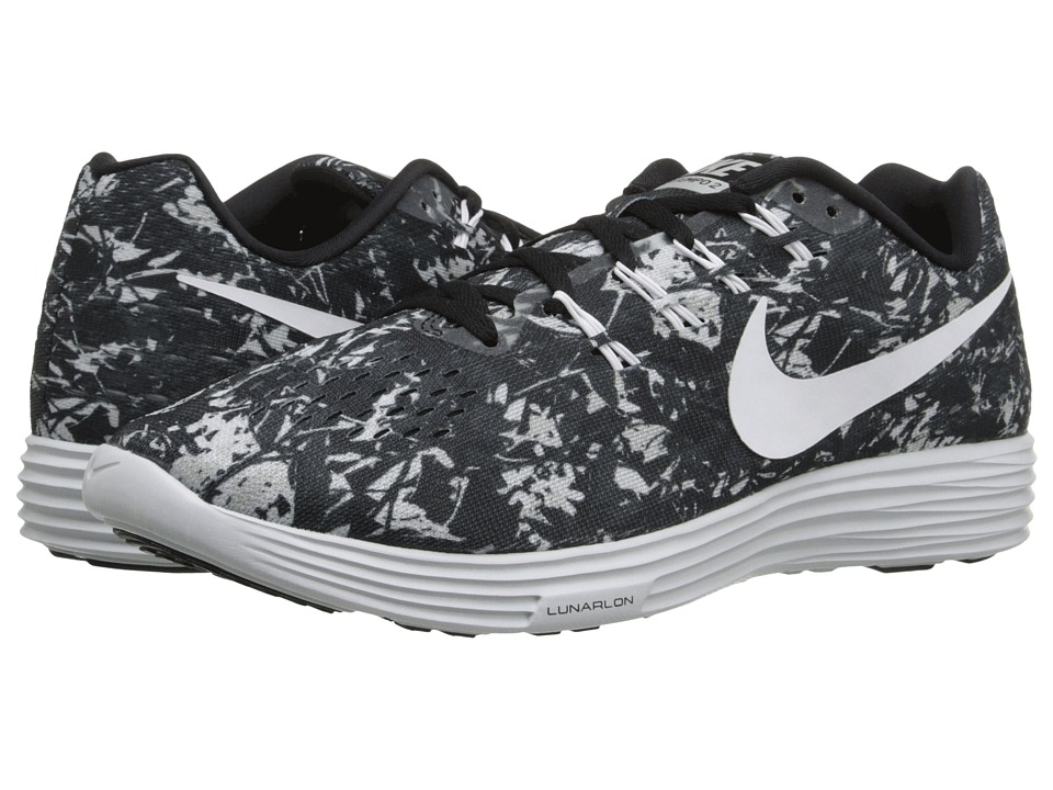 Nike - Lunartempo 2 Print (Black/Pure Platinum/Wolf Grey/White) Men's Running Shoes