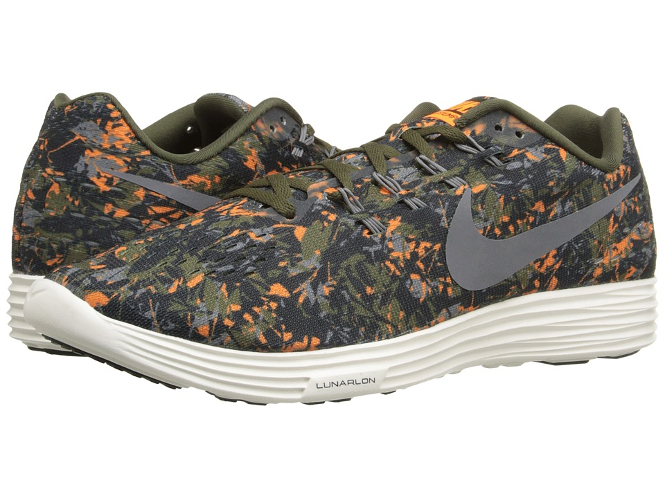 Nike - Lunartempo 2 Print (Cargo Khaki/Total Orange/Black/Cool Grey) Men's Running Shoes