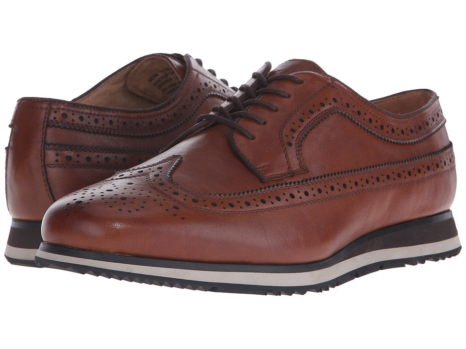 Florsheim - Flux Wingtip Oxford (Cognac Milled) Men's Lace Up Wing Tip Shoes
