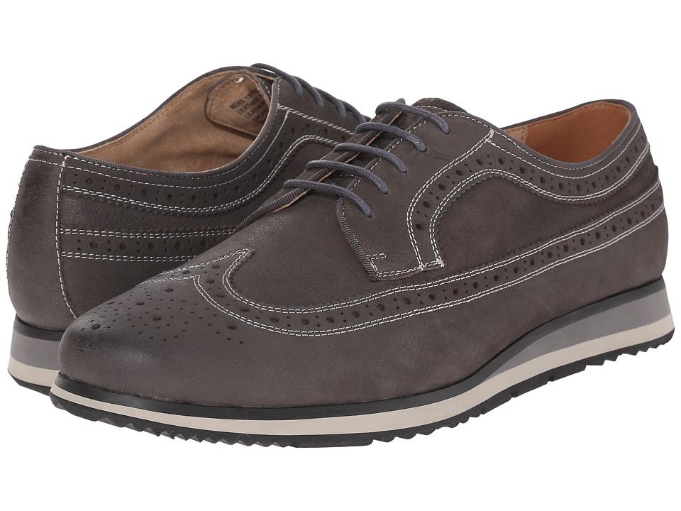 Florsheim - Flux Wingtip Oxford (Grey Nubuck) Men's Lace Up Wing Tip Shoes