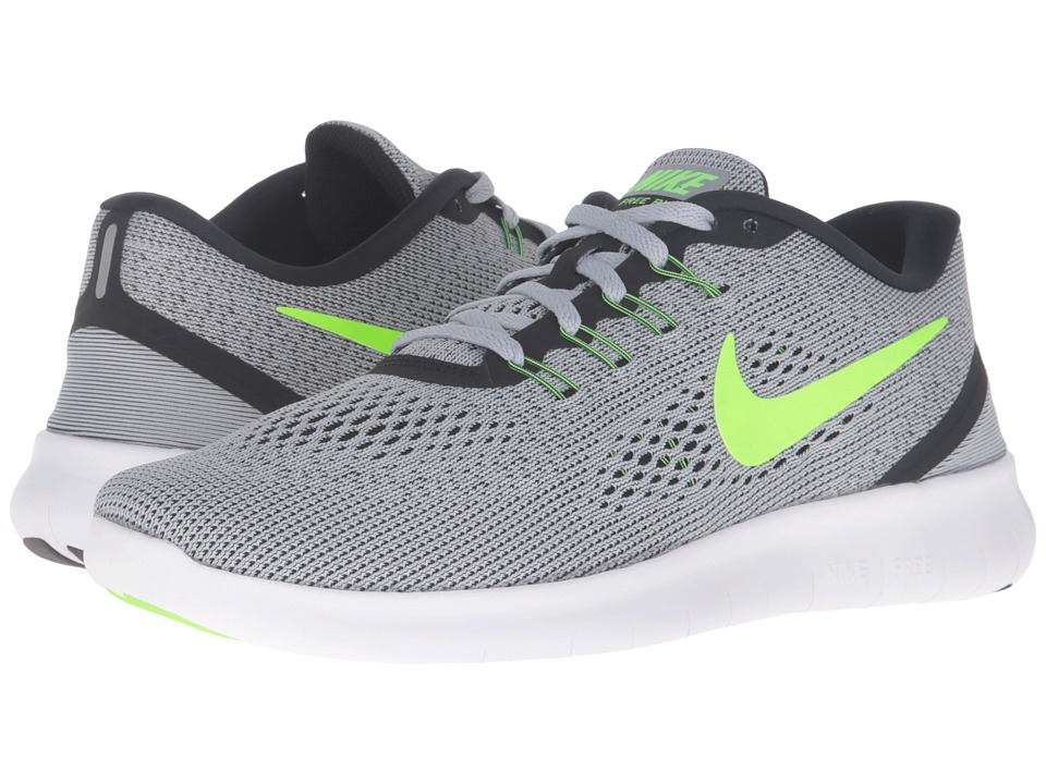 Nike - Free RN (Pure Platinum/Anthracite/Black/Electric Green) Men's Running Shoes