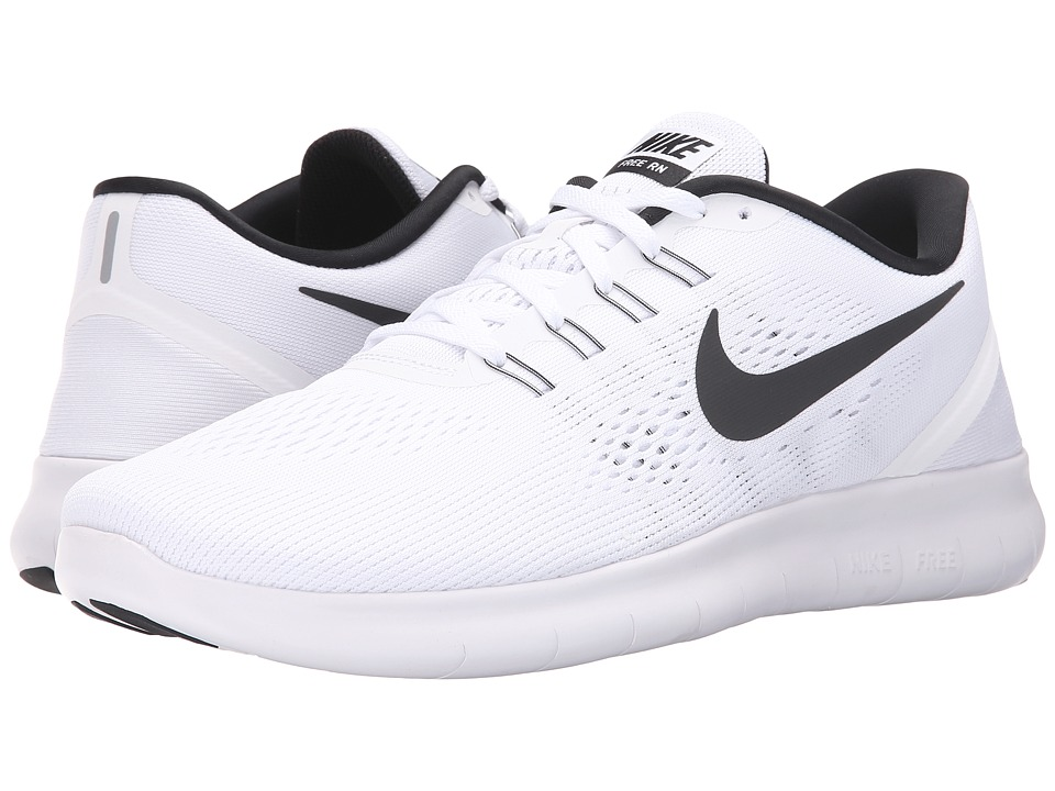 Nike - Free RN (White/Black) Men's Running Shoes