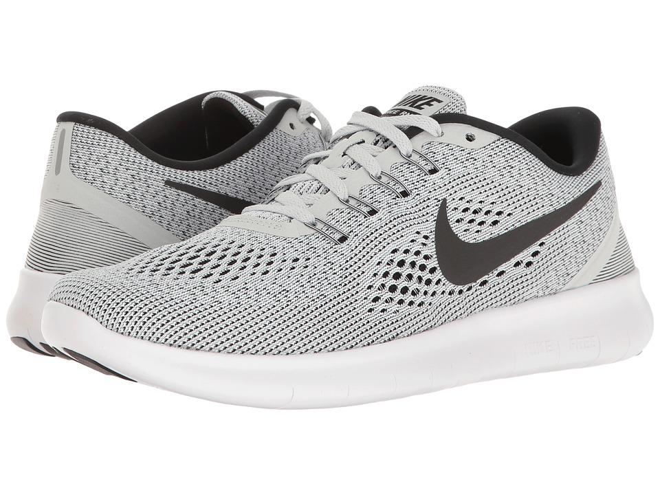 Nike - Free RN (White/Pure Platinum/Black) Men's Running Shoes