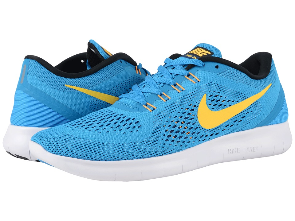 Nike - Free RN (Heritage Cyan/Black/Blue Spark/Laser Orange) Men