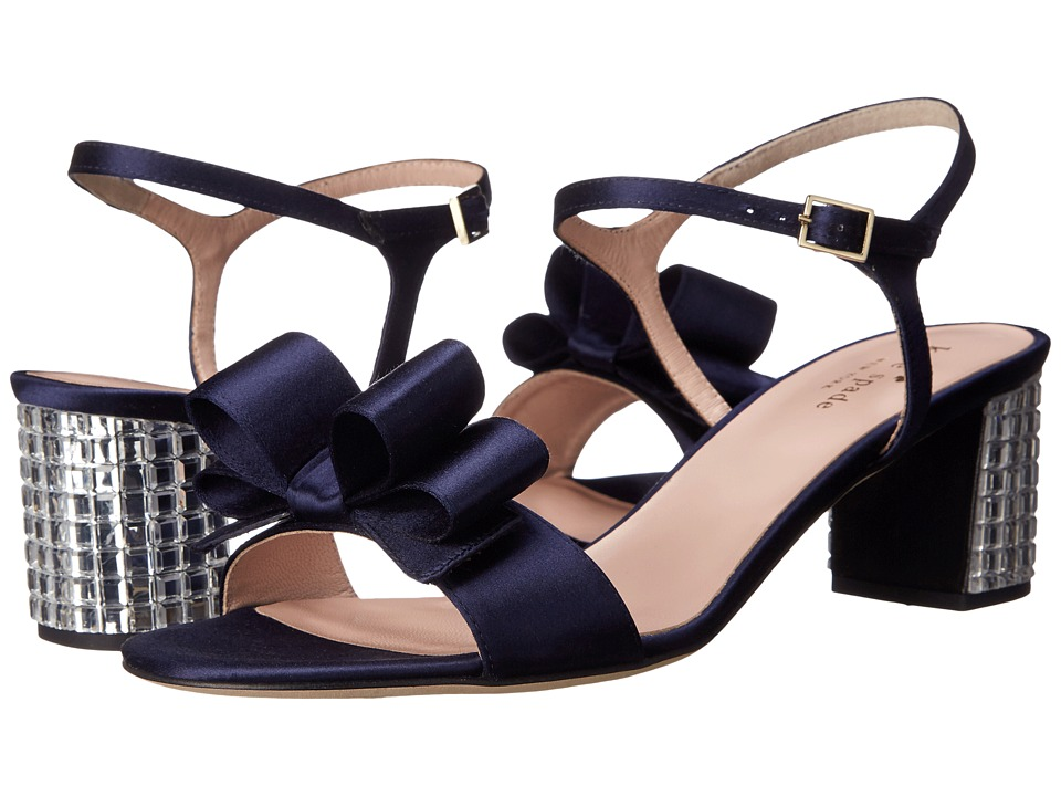 Kate Spade New York - Monne (Navy Satin) Women's Shoes