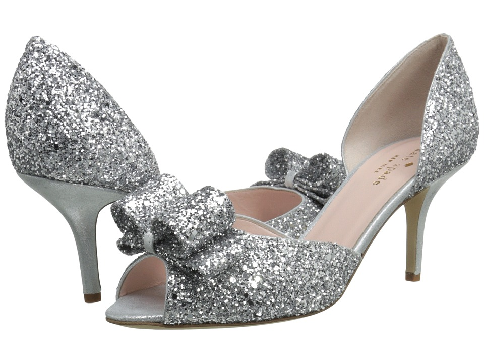 Kate Spade New York - Sela (Silver Glitter/Silver Liquid Suede) Women's Shoes