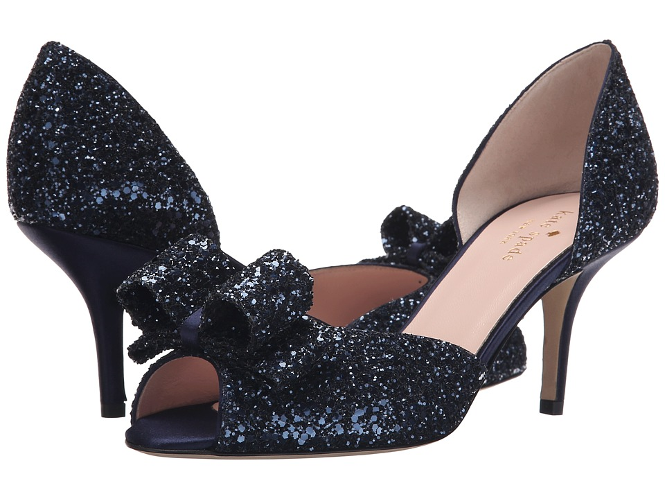 Kate Spade New York - Sela (Navy Glitter/Navy Satin) Women's Shoes