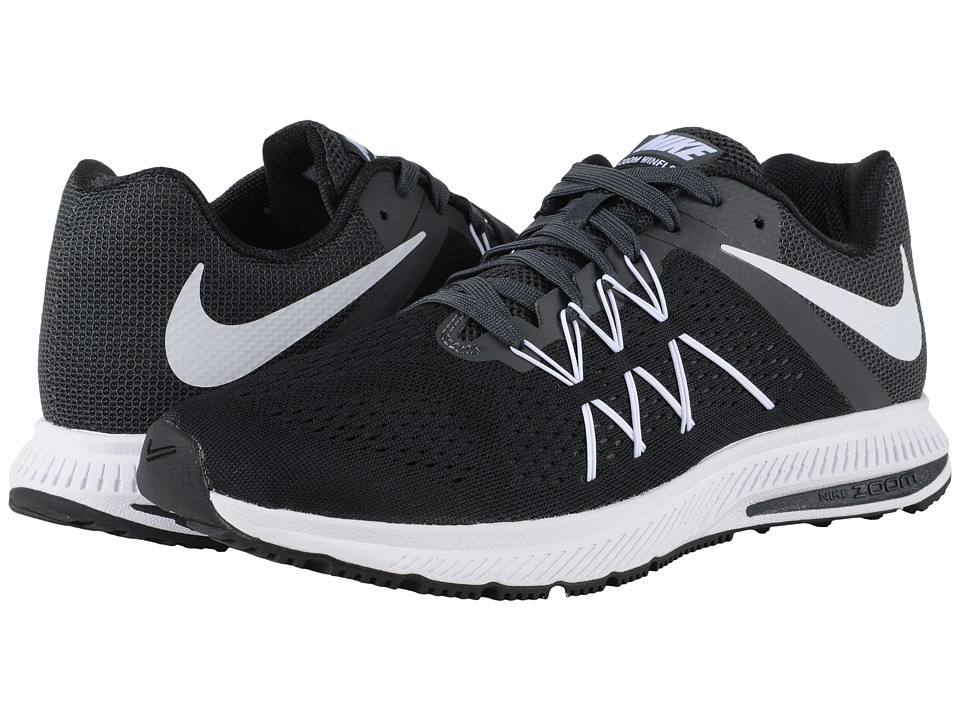 Nike - Zoom Winflo 3 (Black/Anthracite/White) Men's Running Shoes