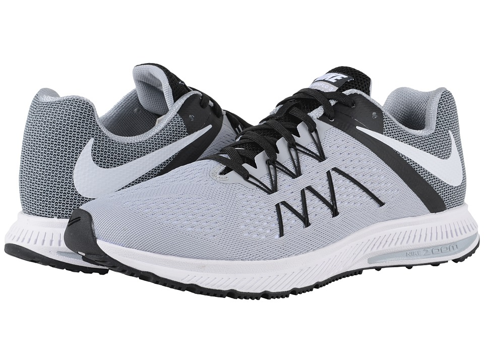 Nike - Zoom Winflo 3 (Wolf Grey/Black/White) Men's Running Shoes