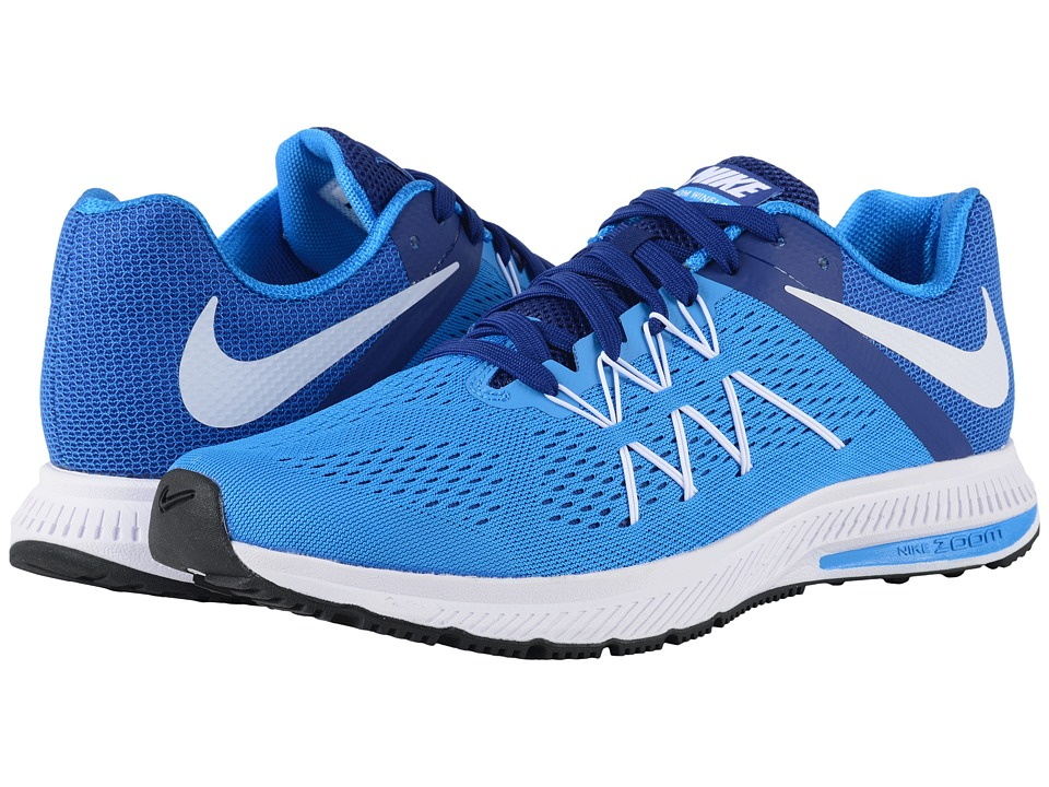 Nike - Zoom Winflo 3 (Photo Blue/Deep Royal Blue/White) Men's Running Shoes
