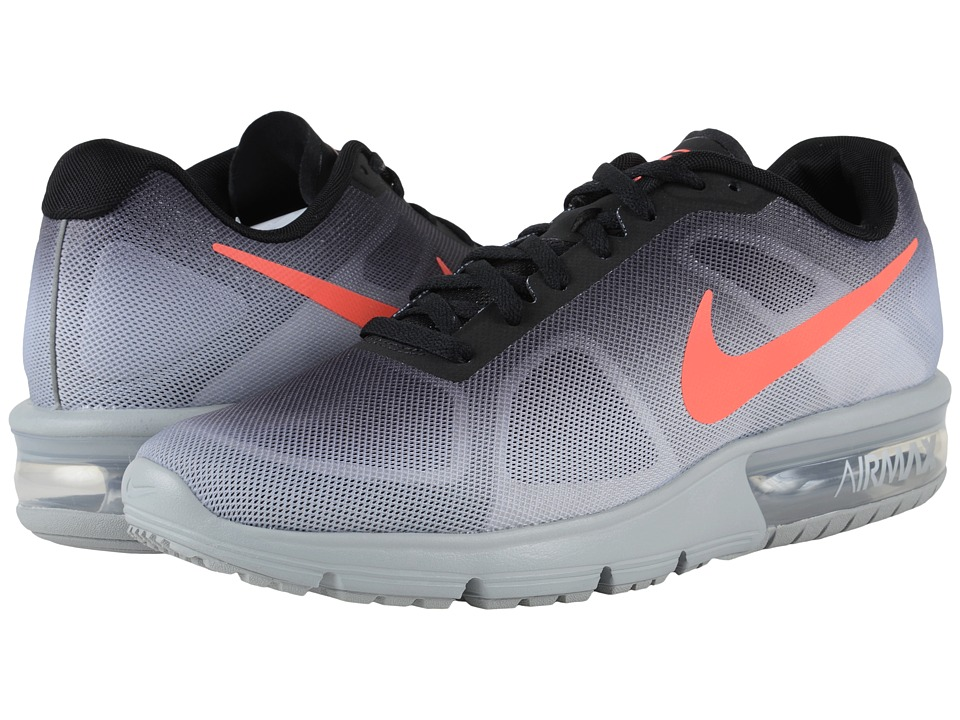 Nike - Air Max Sequent (Metallic Silver/Black/Dark Grey/Bright Crimson) Men's Running Shoes