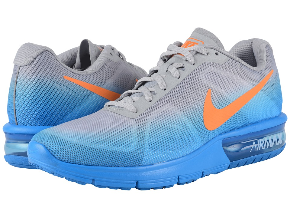 Nike - Air Max Sequent (Photo Blue/Metallic Silver/Cool Grey/Total Orange) Men's Running Shoes
