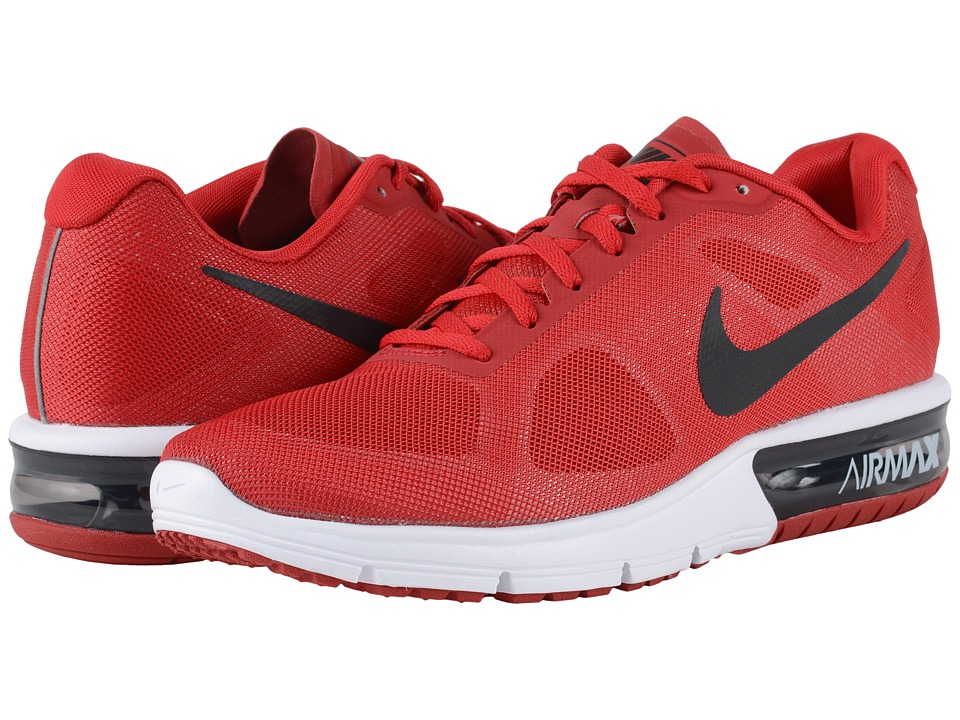 Nike - Air Max Sequent (Gym Red/White/Black/Metallic Hematite) Men's Running Shoes