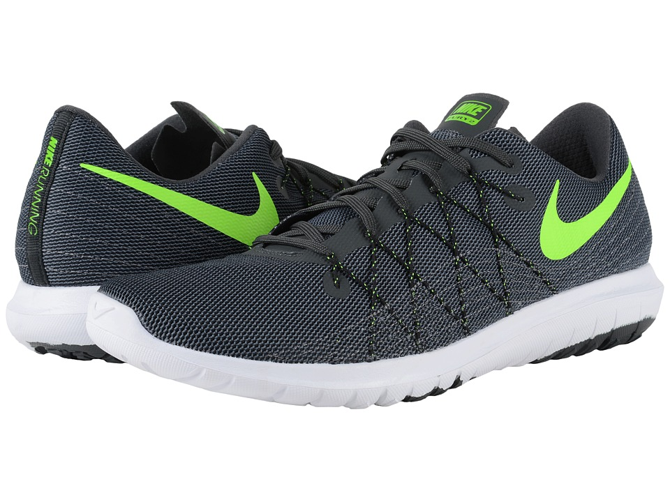 Nike - Flex Fury 2 (Anthracite/Dark Grey/Black/Electric Green) Men's Running Shoes