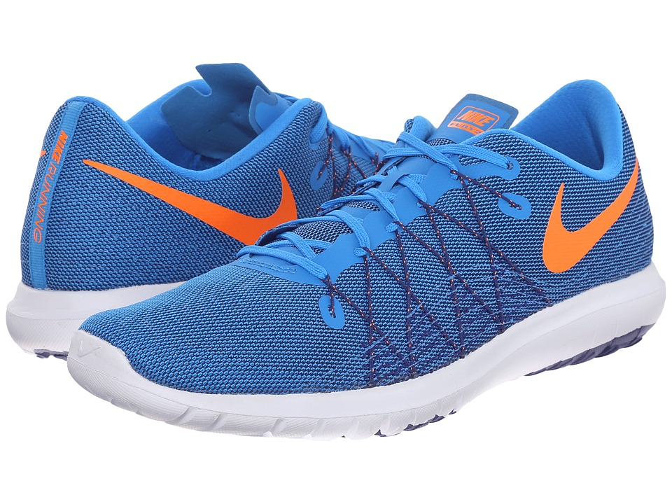 Nike - Flex Fury 2 (Photo Blue/Deep Royal Blue/White/Total Orange) Men's Running Shoes