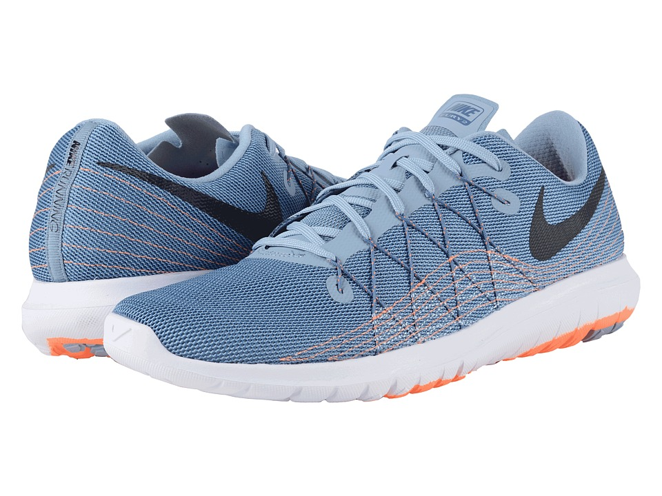 Nike - Flex Fury 2 (Blue Grey/Ocean Fog/Total Orange/Black) Men's Running Shoes