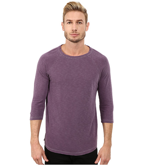 Alternative - Washed Slub Baseball Tee (Purple Haze) Men's T Shirt