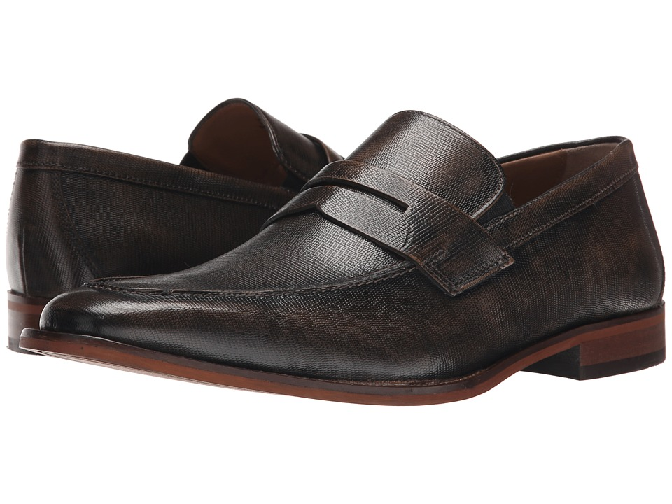 Florsheim - Sabato Penny (Bronze Printed) Men's Slip-on Dress Shoes