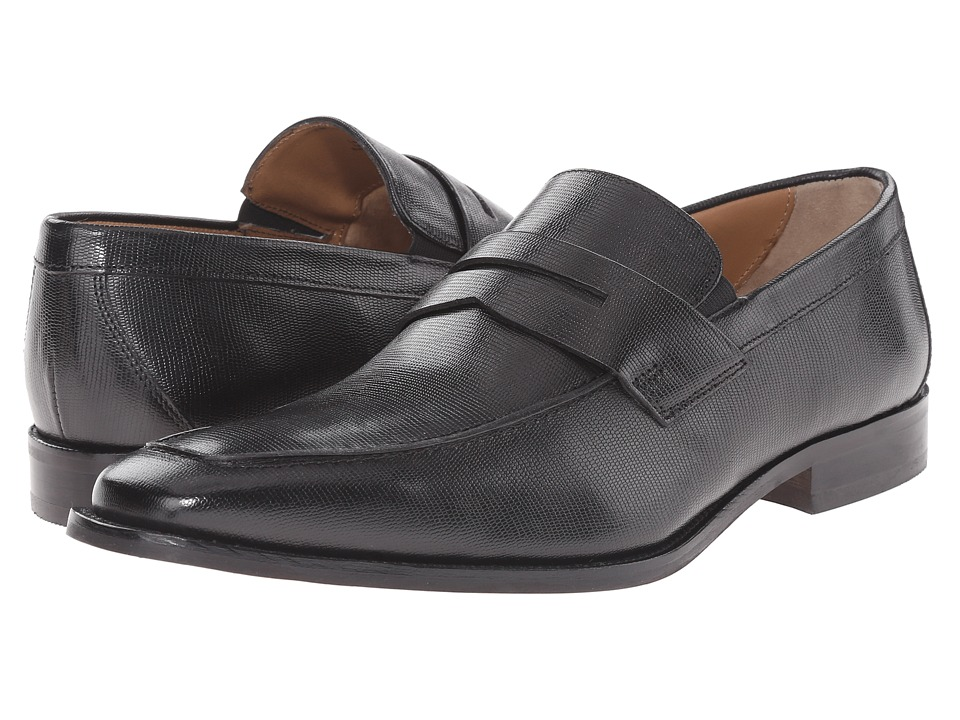 Florsheim - Sabato Penny (Ebony Printed) Men's Slip-on Dress Shoes