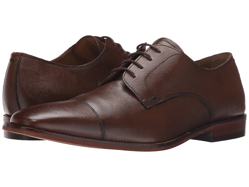 Florsheim Sabato Cap Ox Tan Printed Mens Lace Up Cap Toe Shoes