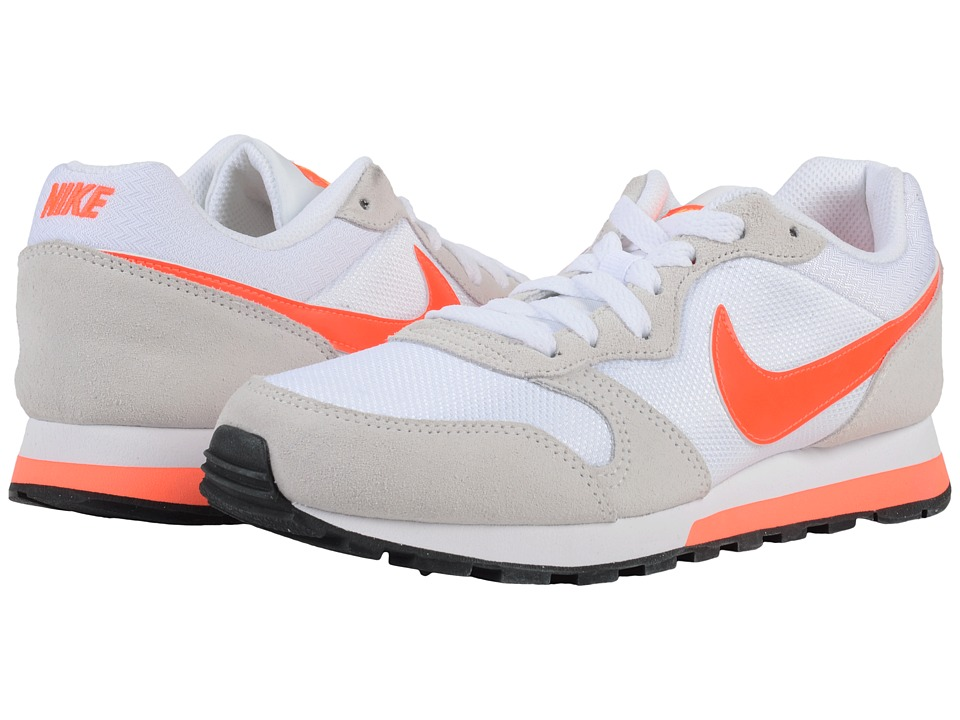 Nike - MD Runner 2 (White/Total Crimson/Laser Orange/Phantom) Women's Classic Shoes