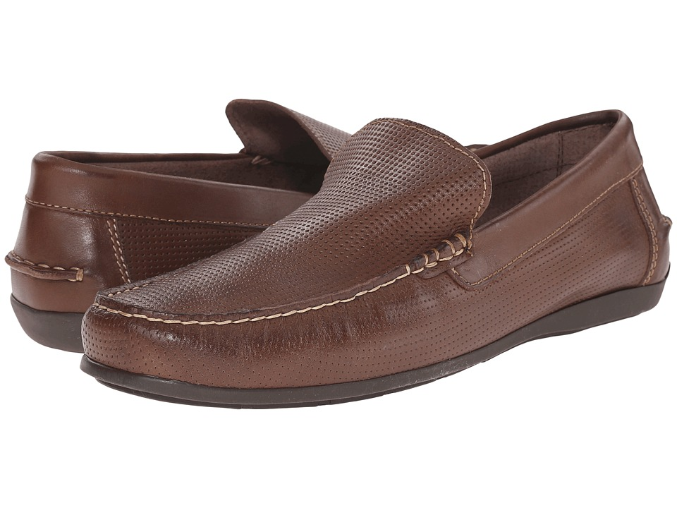 Florsheim - Jasper Perf (Brown Smooth) Men's Slip on Shoes