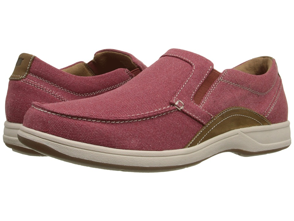 Florsheim Lakeside Moc Toe Slip-On (Red Canvas/Brown Crazy Horse) Men