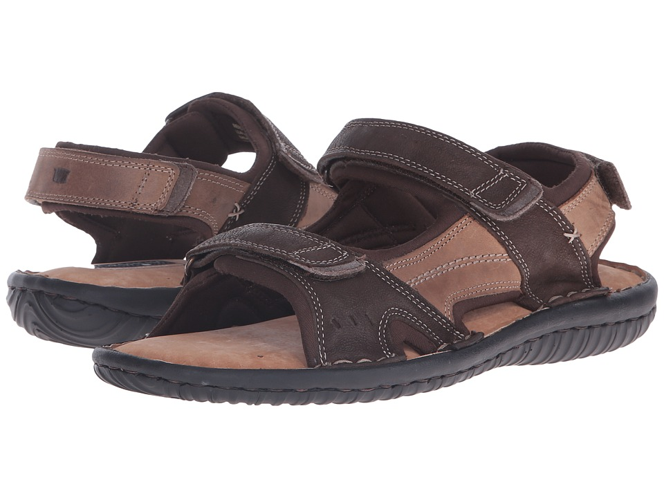 Florsheim Coastal River Sandal (Brown Crazy Horse/Milled Nubuck) Men