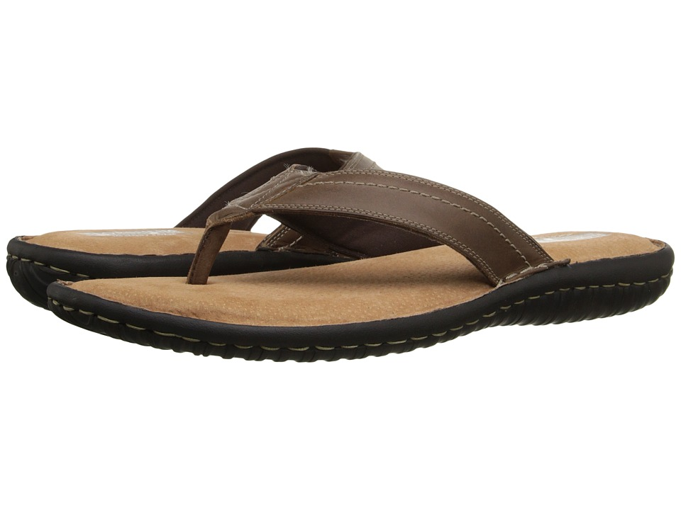 Florsheim - Coastal Thong Sandal (Brown Crazy Horse) Men