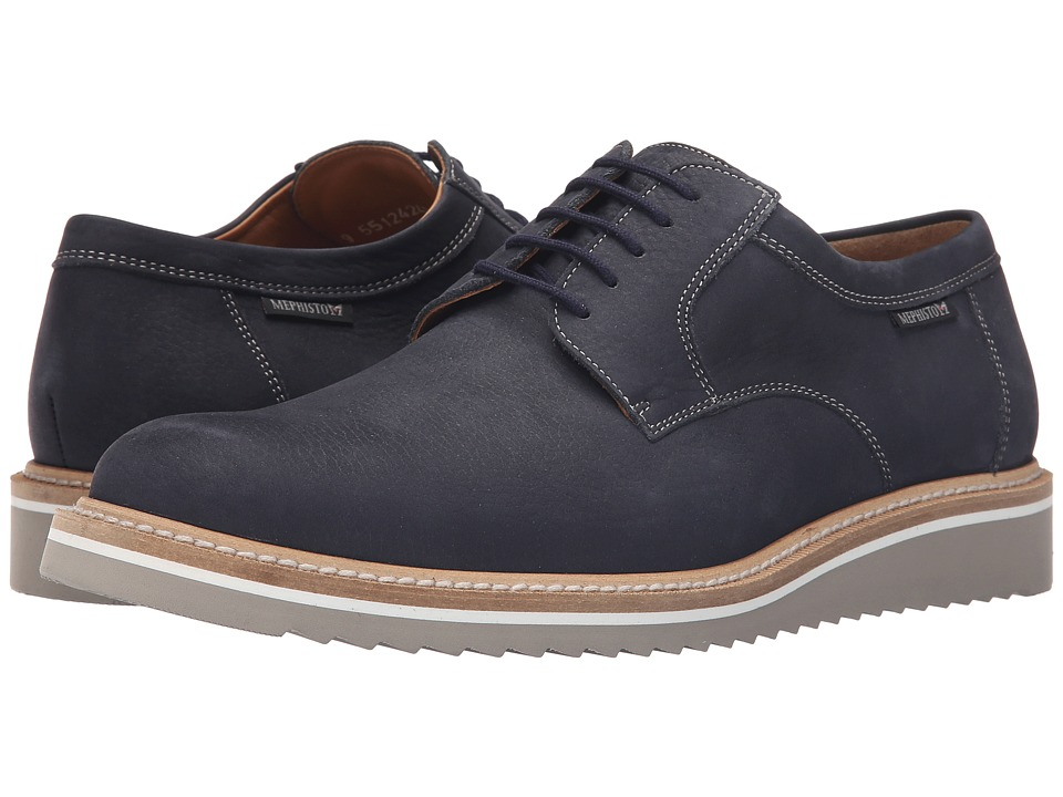 Mephisto - Enzo (Navy Sportbuck) Men's Lace up casual Shoes